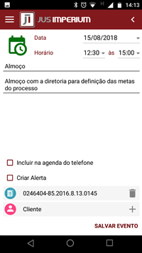 Agenda do advogado JusImperium